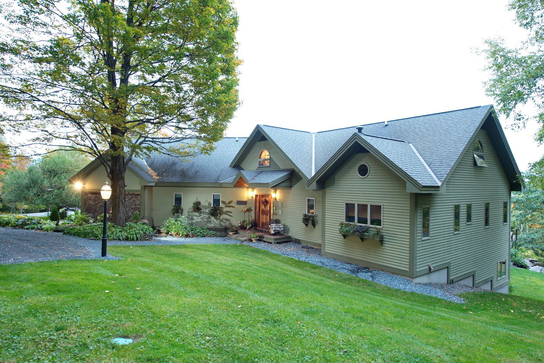 Single Family Homes for Sale at Post and Beam Home on 59 Acres in Weathersfield 482 Skyline Dr Weathersfield, Vermont 05156 United States