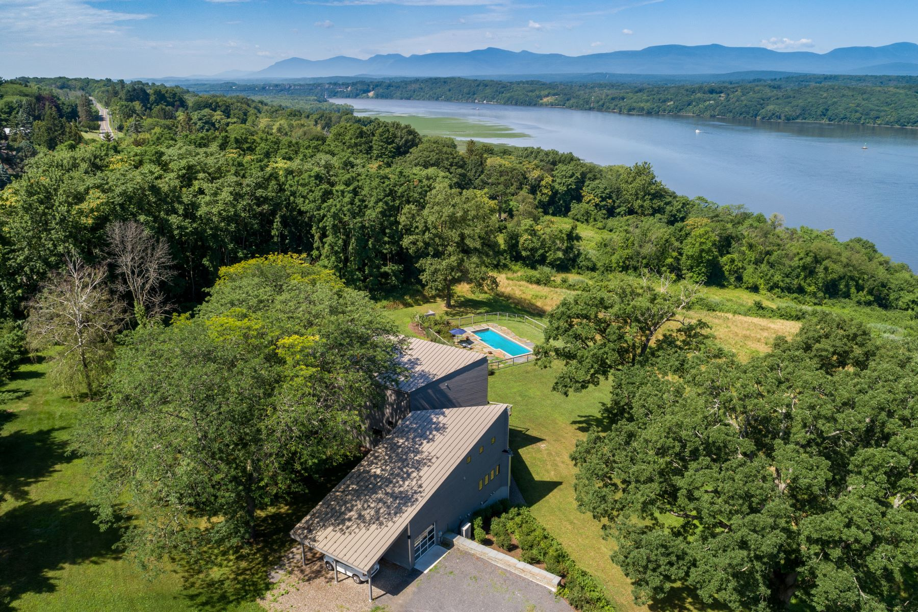 Single Family Homes for Sale at Modernist Masterpiece On The Hudson 170 Mount Merino Greenport, New York 12534 United States