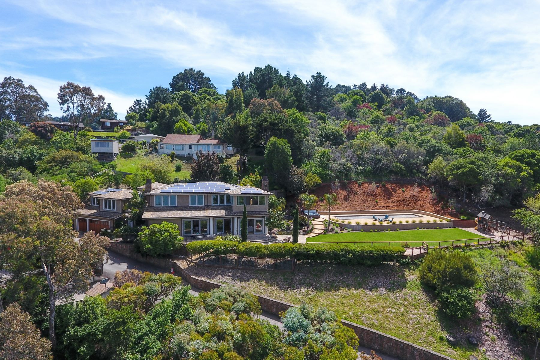 Single Family Home for Sale at Stunning Private Villa in Tiburon! 4185 Paradise Dr Tiburon, California, 94920 United States