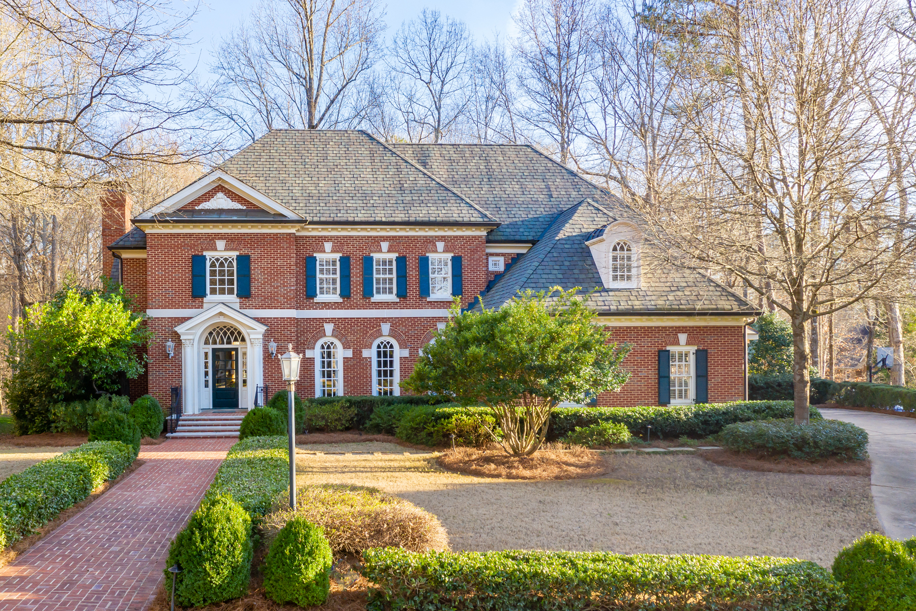 Single Family Homes for Active at Stately Brick Georgian in Highly Desirable Neely Farm Swim/Tennis Community 6290 Indian River Drive Peachtree Corners, Georgia 30092 United States