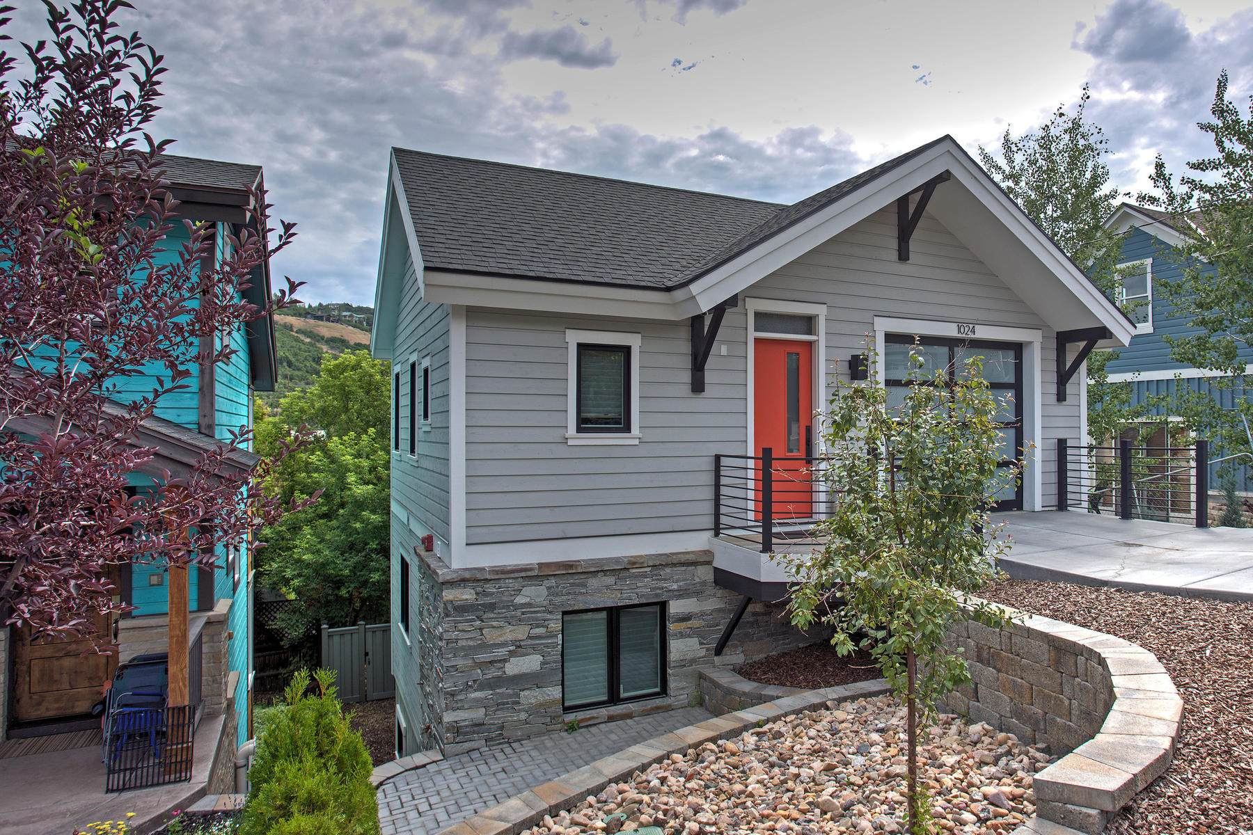 단독 가정 주택 용 매매 에 Beautiful Mountain Contemporary Home Located in the Heart of Park City 1024 Norfolk Ave Park City, 유타, 84060 미국