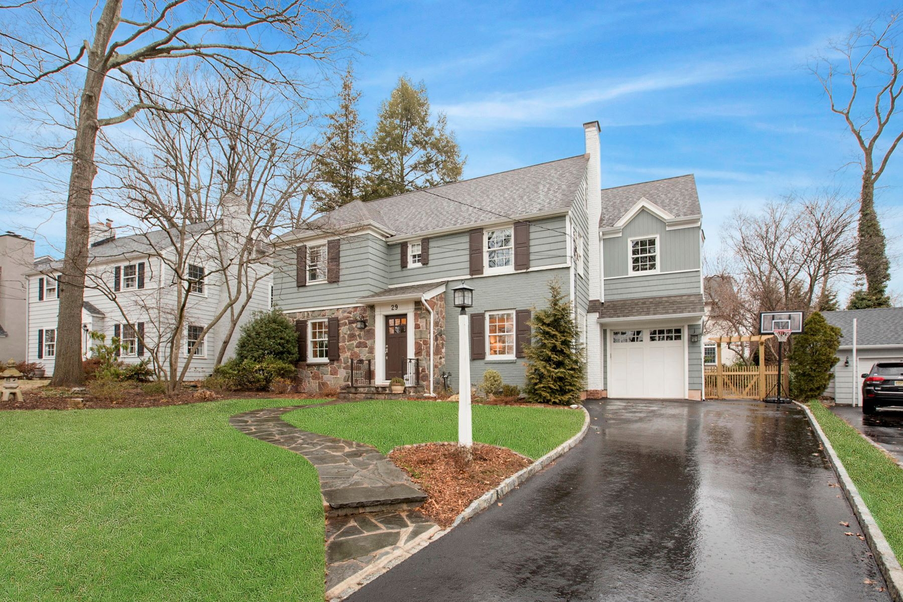 Single Family Home for Sale at Beautiful 1930s center hall colonial on a quiet cul-de-sac 29 Gallowae, Westfield, New Jersey, 07090 United States