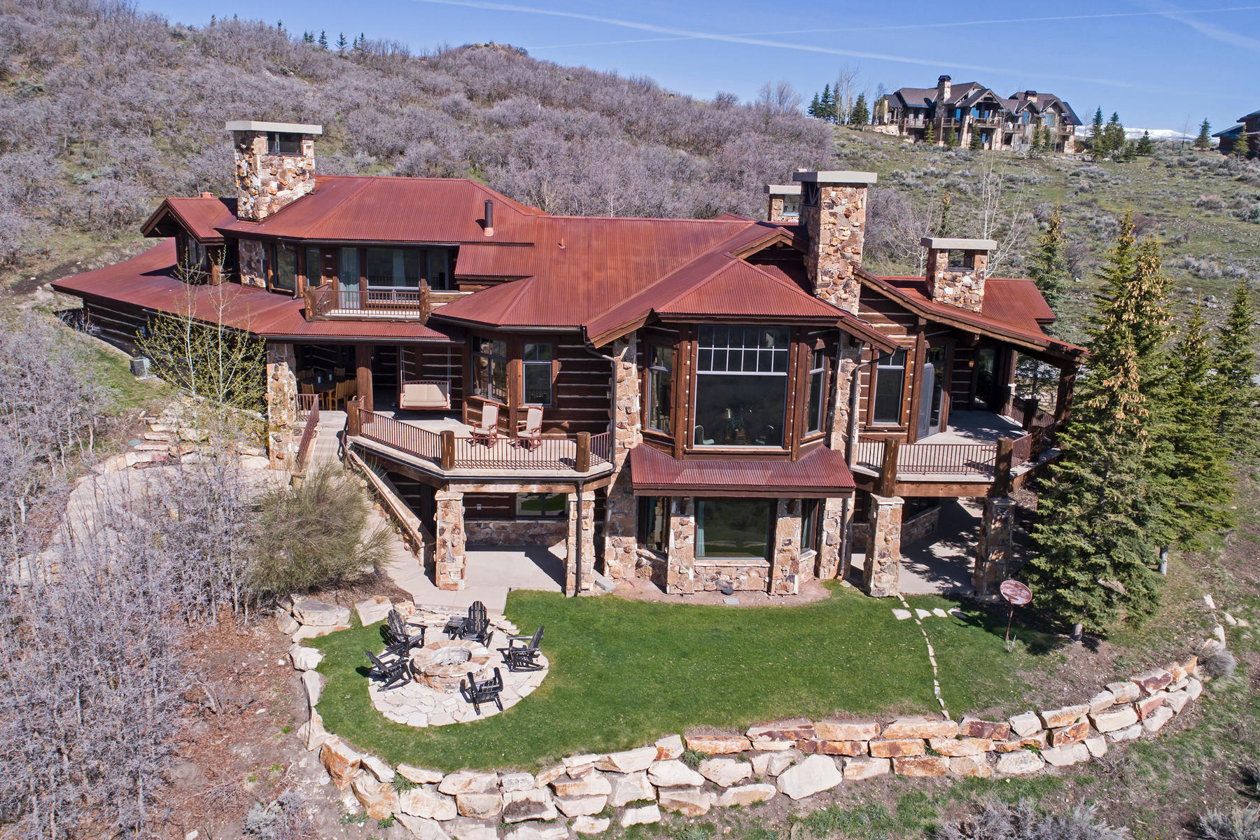 Single Family Home for Sale at Elegant Promontory Masterpiece in a Private Location with Direct Views of Uintas 8437 N Sunrise Lp Park City, Utah, 84098 United States