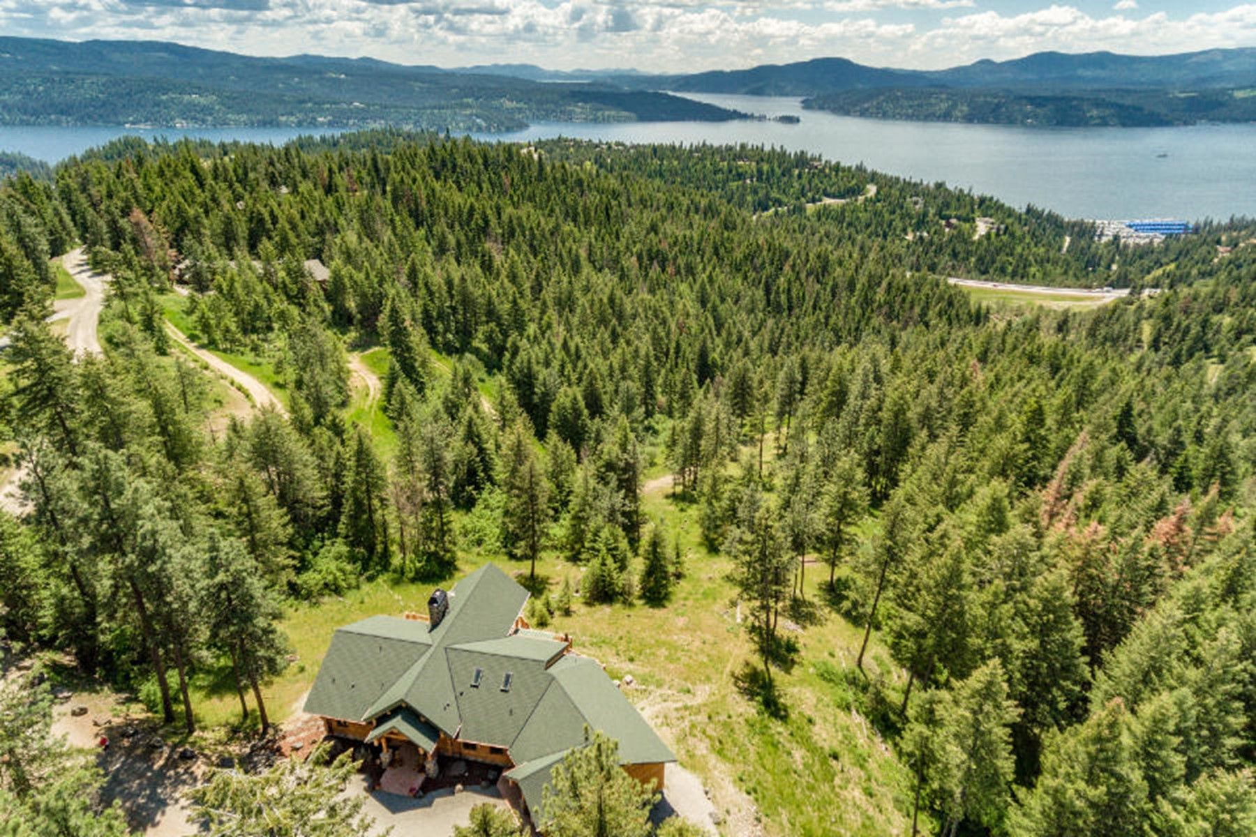 Single Family Homes for Sale at Hand Crafted Custom Log Home 1585 S Grouse Meadow Coeur D Alene, Idaho 83814 United States