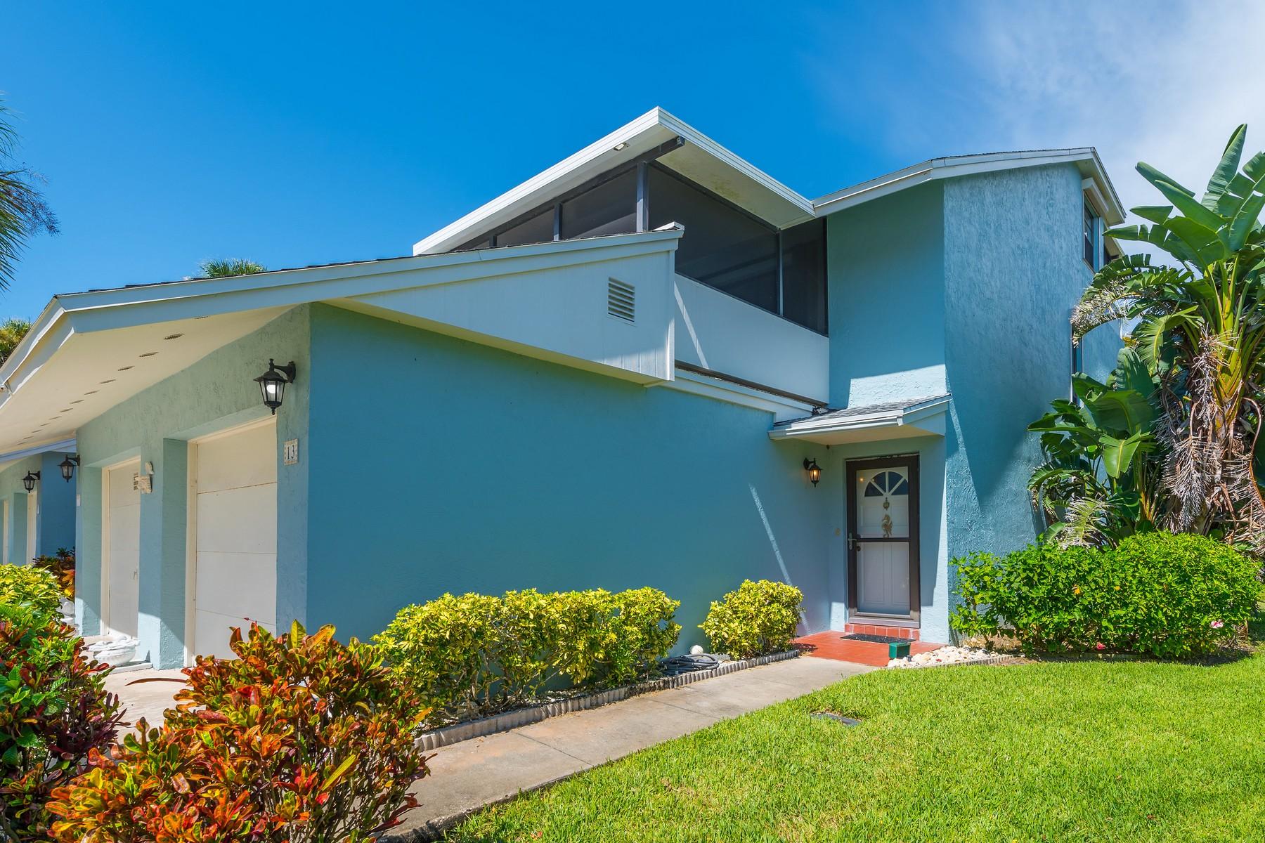 多棟聯建住宅 為 出售 在 Riverfront Townhome in The Cove at South Beaches 13 Cove Road Melbourne Beach, 佛羅里達州 32951 美國