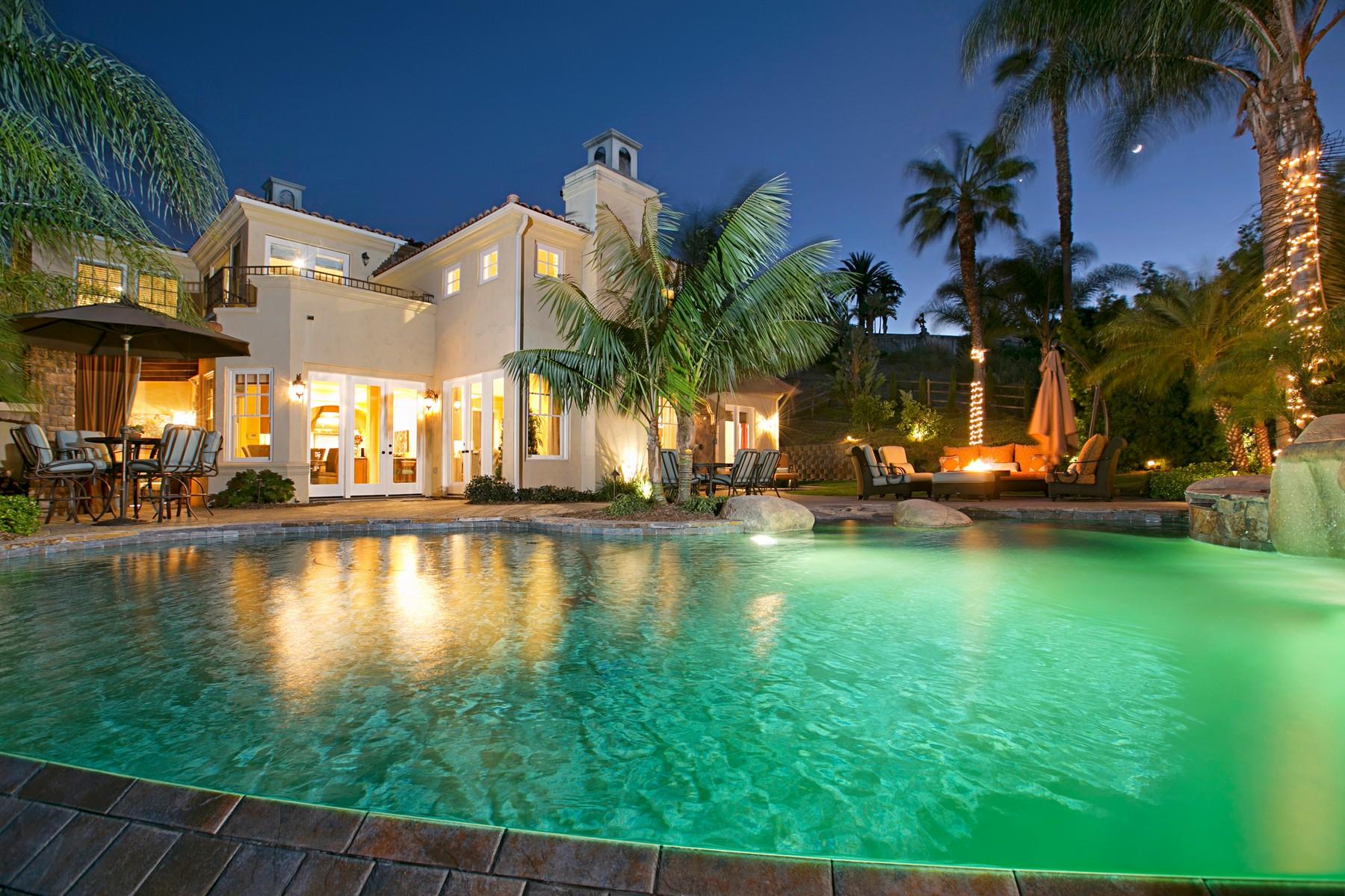 Casa Unifamiliar por un Venta en 3376 Calle Tres Vistas Rancho Santa Fe, California, 92067 Estados Unidos
