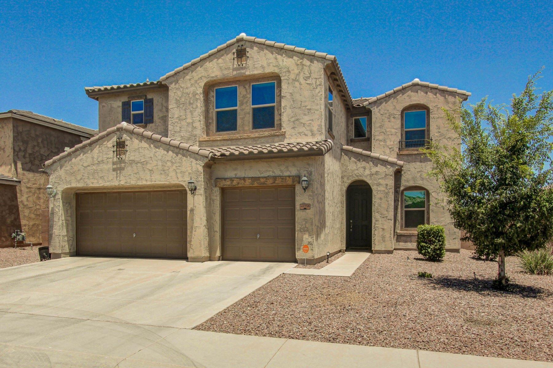 단독 가정 주택 용 매매 에 Stunning waterfront property in Meritage Homes 40738 W Parkhill Dr Maricopa, 아리조나, 85138 미국