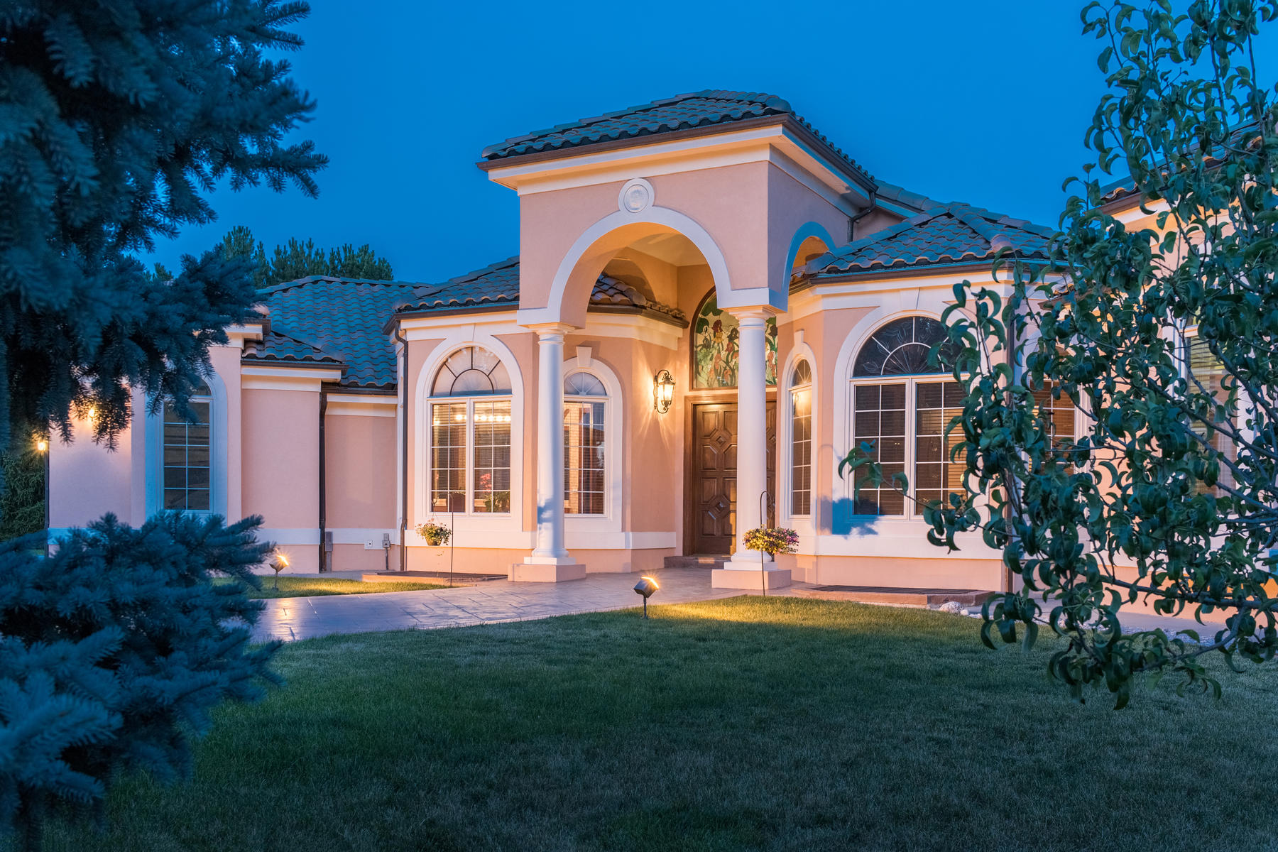 Single Family Home for Active at This exquisite Mediterranean style villa sits on over an acre 6180 E Quincy Ave Cherry Hills Village, Colorado 80111 United States