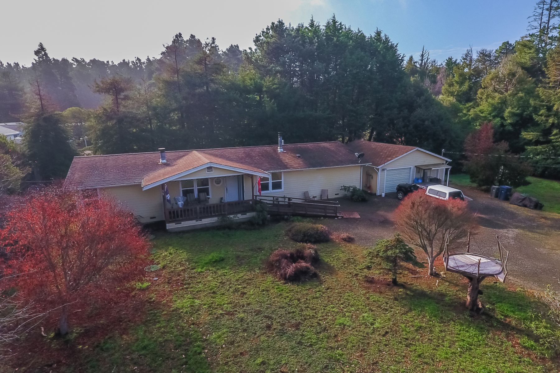 Single Family Homes for Sale at Rhododendron Haven! 32725 Gibney Lane Fort Bragg, California 95437 United States
