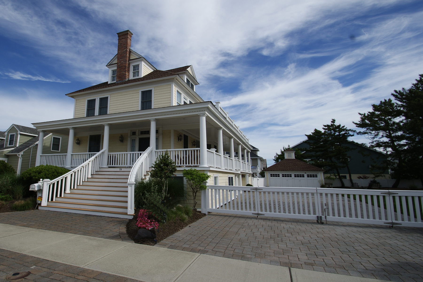 Single Family Home for Sale at Elegant Oceanblock Home - Exquisite Craftsmanship 26 7th Ave Seaside Park, New Jersey 08752 United States