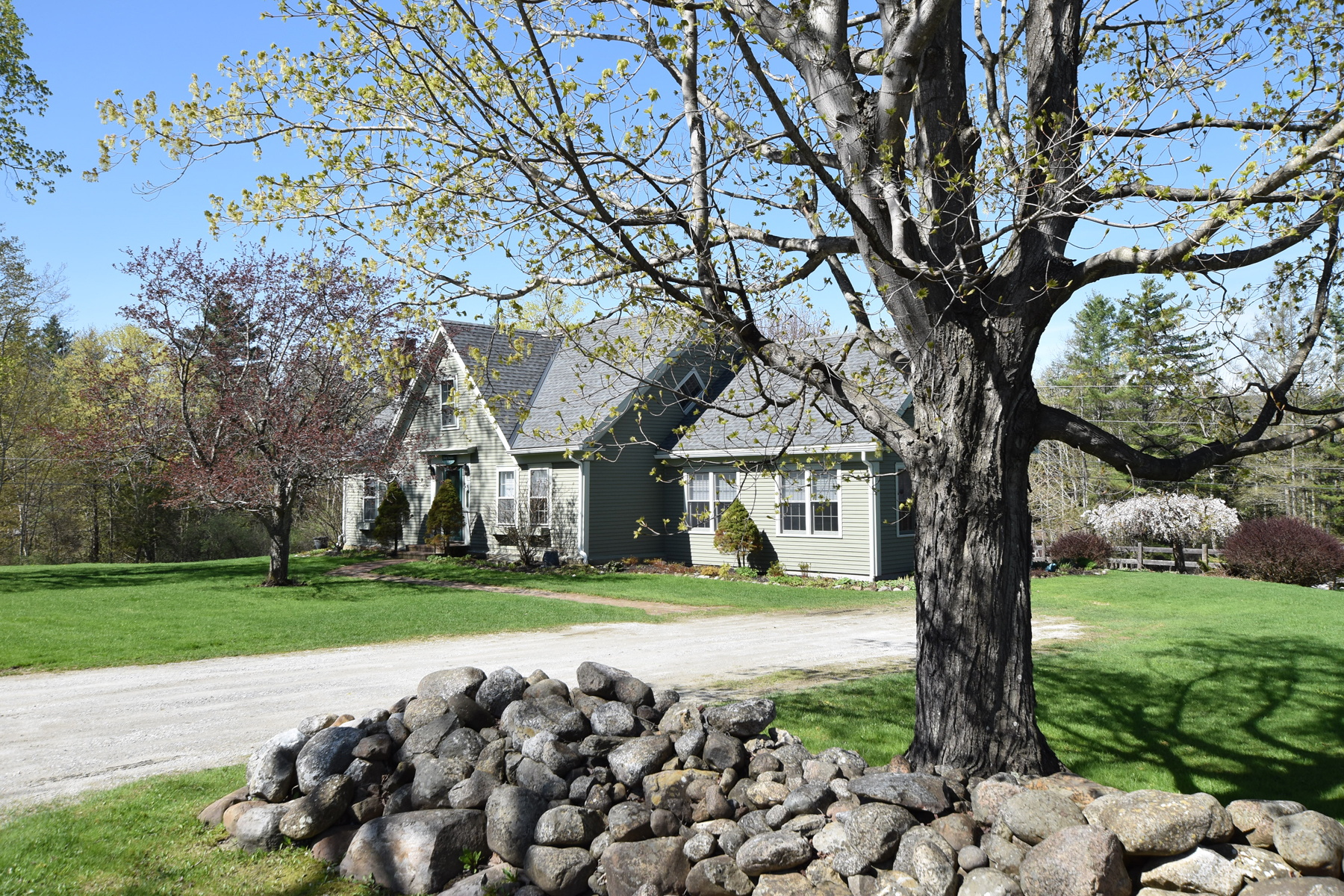 single family homes for Sale at Restored Cape with addition-20 Acres-Barns and pon 357 East St Clarendon, Vermont 05759 United States