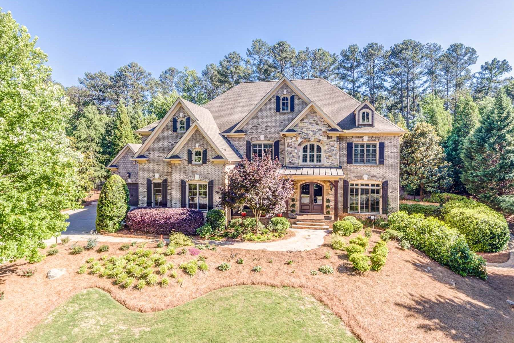 Single Family Home for Sale at Entertainer's Dream In White Columns 611 Glenover Drive Milton, Georgia, 30004 United States