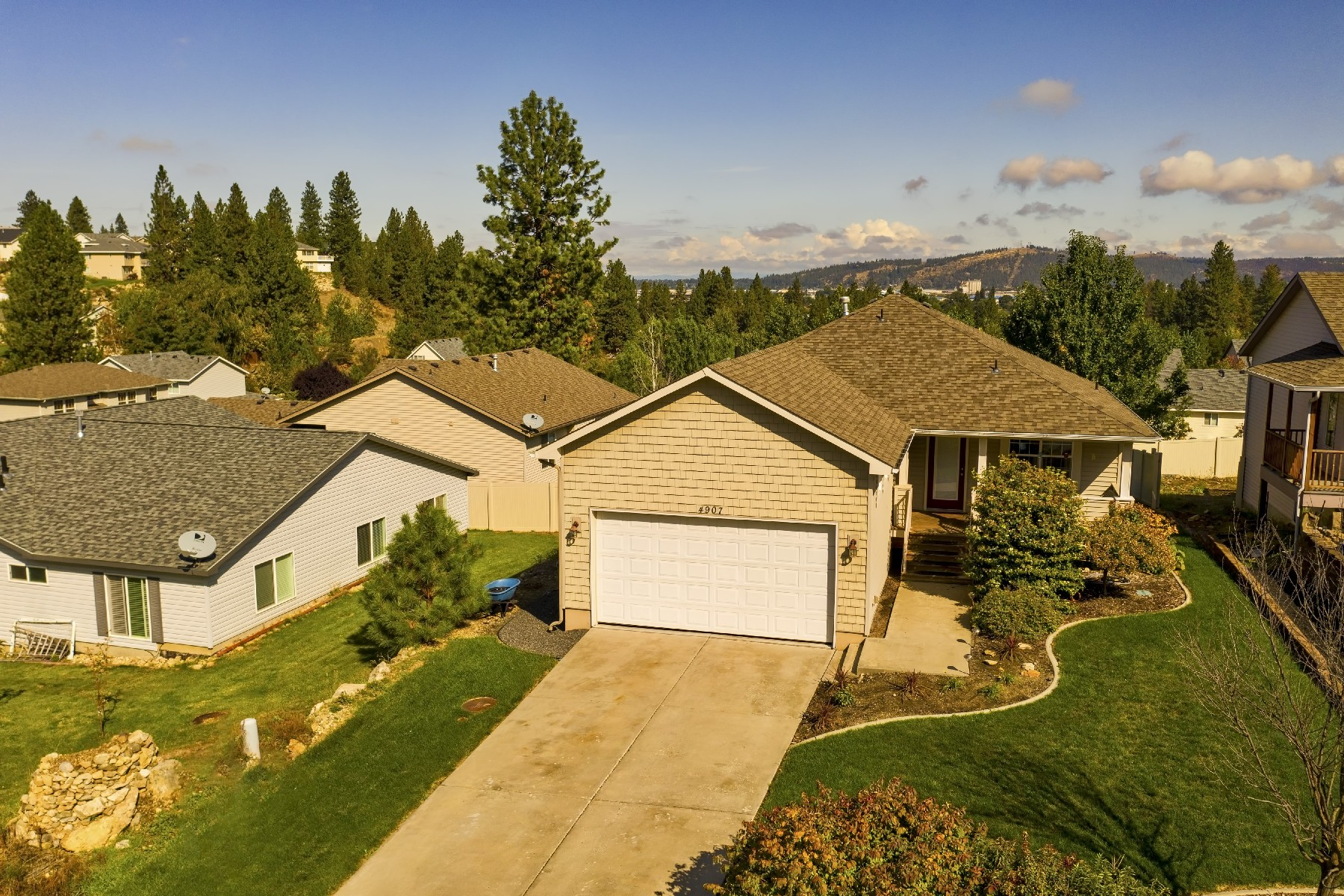 Single Family Homes for Sale at GORGEOUS RANCHER/DAYLIGHT BASEMENT W/ VIEW 4907 E 15TH Spokane Valley, Washington 99212 United States
