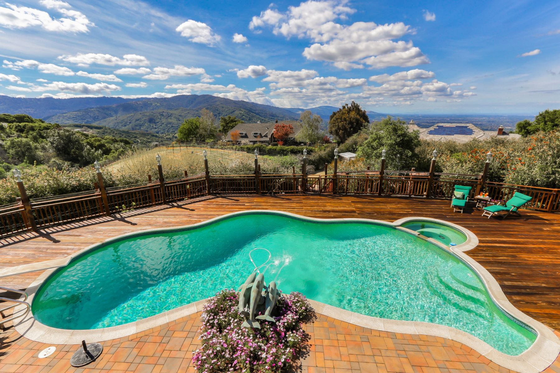 Single Family Homes for Sale at Outstanding City Light Views to San Francisco! 16375 Aztec Ridge Drive Los Gatos, California 95030 United States