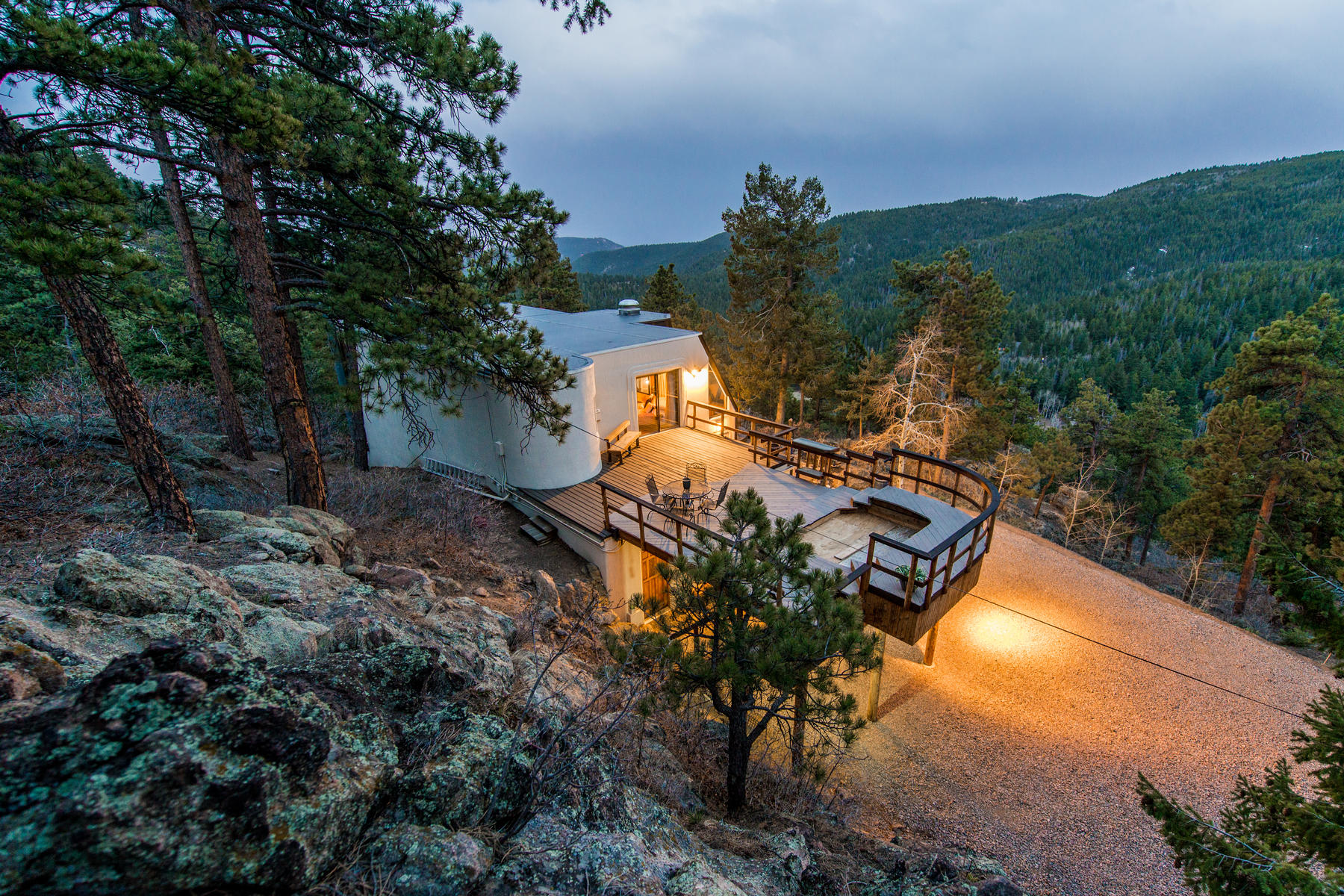 Single Family Home for Active at Unique Artisan Mountain Top Home with 17 Acres 20173 Goins Drive Morrison, Colorado 80465 United States
