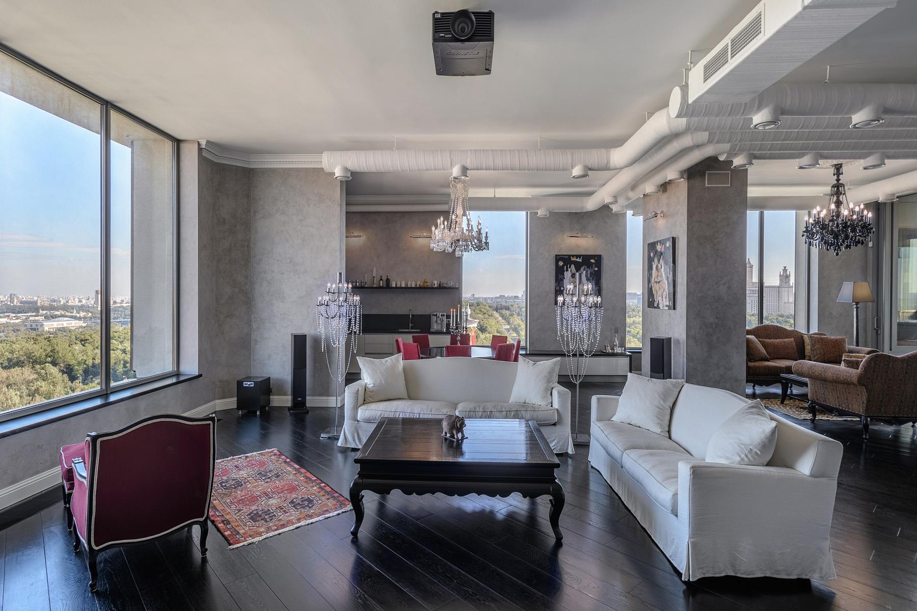 Apartments için Kiralama at Luxury penthouse apartment in Lomonosov Residential Complex Moscow, Moskova Rusya