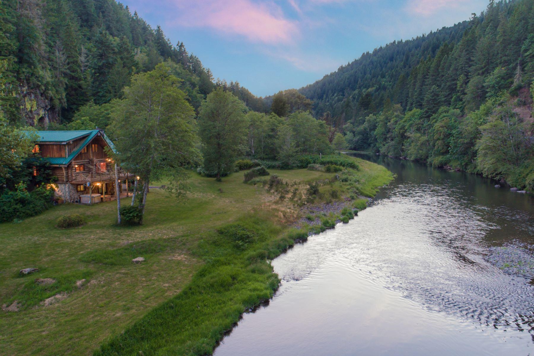 Single Family Homes for Sale at Idyllic Cabin on Kalama River 616 Modrow Road Kalama, Washington 98625 United States