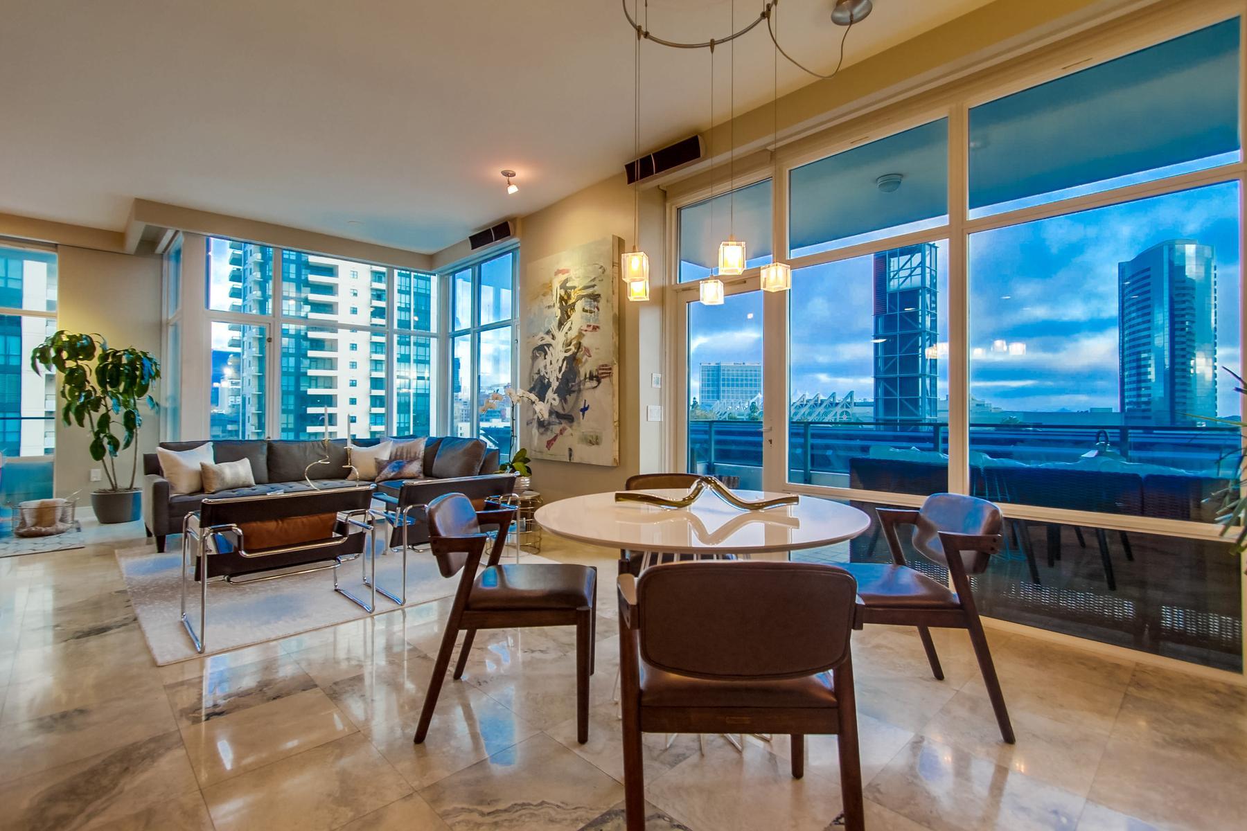 Кондоминиум для того Продажа на Pinnacle Marina Tower 550 Front Street 401, Marina, San Diego, Калифорния, 92101 Соединенные Штаты