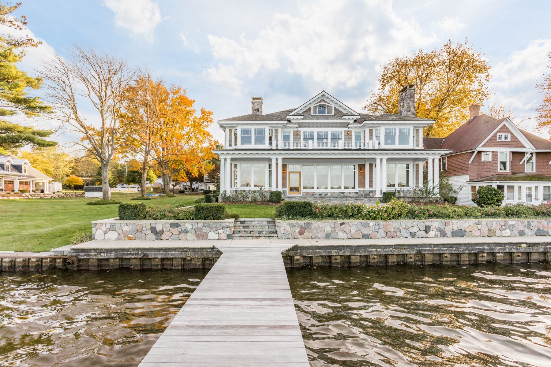 Single Family Home for Sale at Regal Estate With Dramatic Lake Macatawa Views 1967 South Shore Drive Holland, Michigan 49423 United States