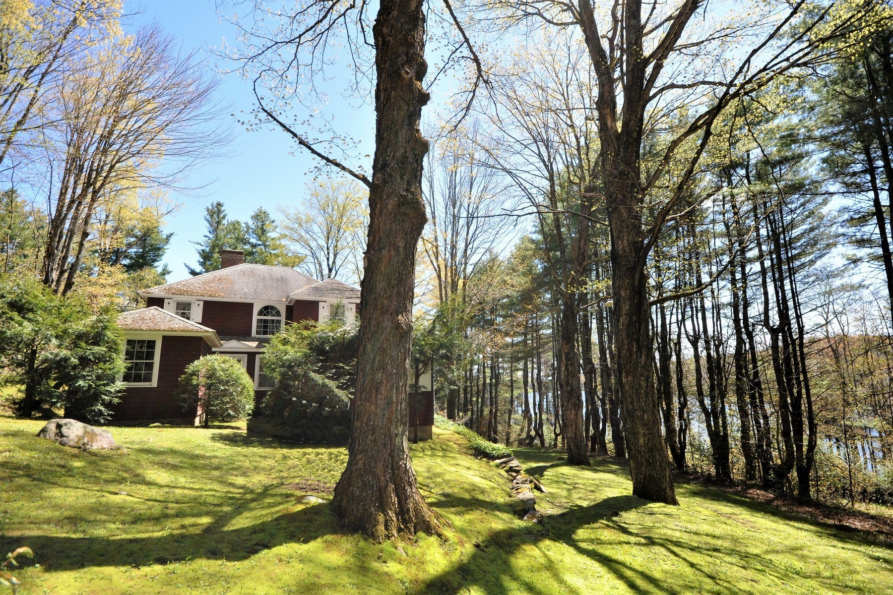 Single Family Homes for Sale at Special Lake Home on 15 Acres 361 Lake Raponda Rd Wilmington, Vermont 05363 United States