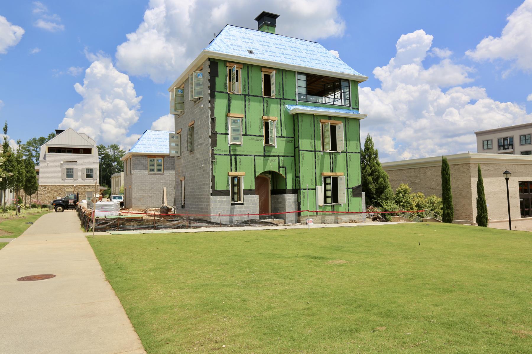Maison accolée pour l Vente à New Construction Townhome 217 N Esplanade Alpharetta, Georgia, 30009 États-Unis