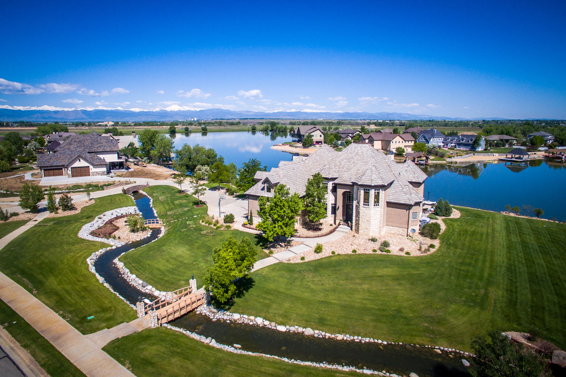 Single Family Home for Active at Private Lakefront Estate 9841 Shoreline Dr Longmont, Colorado 80504 United States