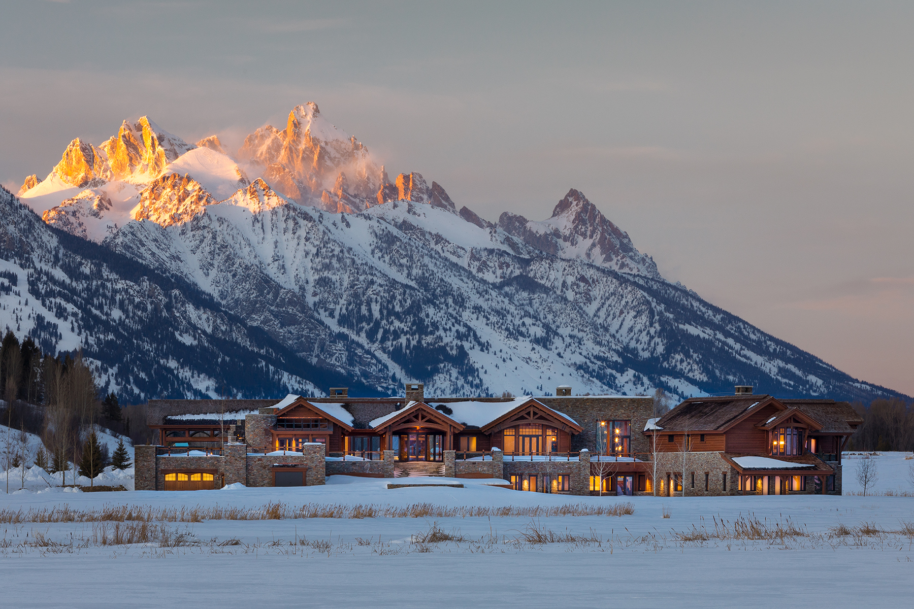 Single Family Homes for Sale at Exceptional Architecture & Teton Views 3500/3550/3560 W Highway 22 Jackson, Wyoming 83001 United States