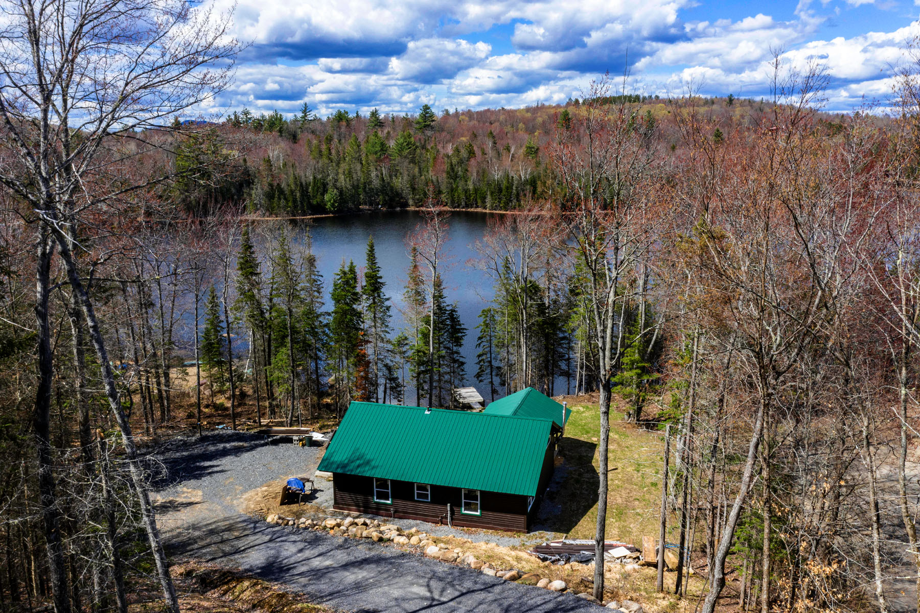 Single Family Homes for Sale at Lake Snow - New Waterfront Cabin 211-A Evergreen Road Indian Lake, New York 12842 United States