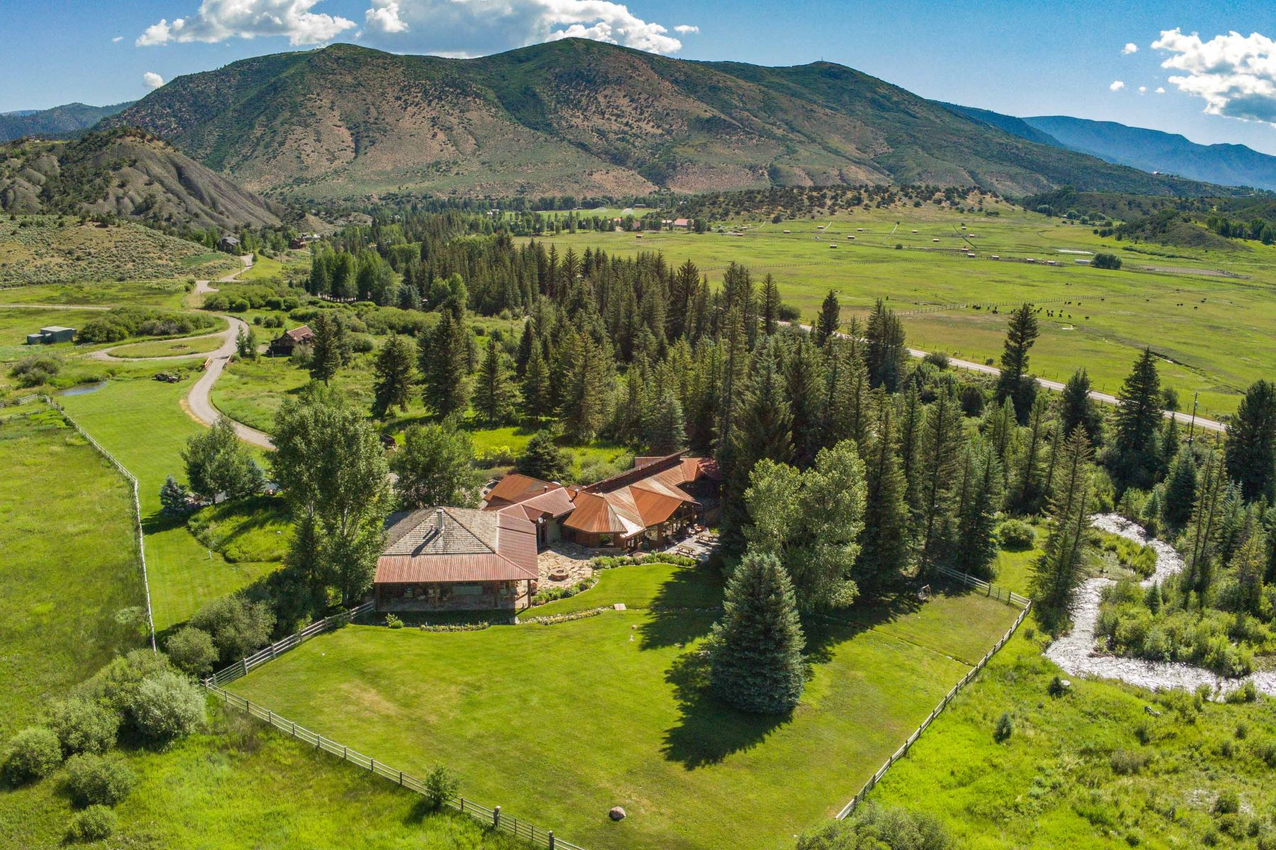 Single Family Homes for Sale at One of the last true ranch estates in Old Snowmass! 7039 E. Sopris Creek Road Old Snowmass, Colorado 81654 United States