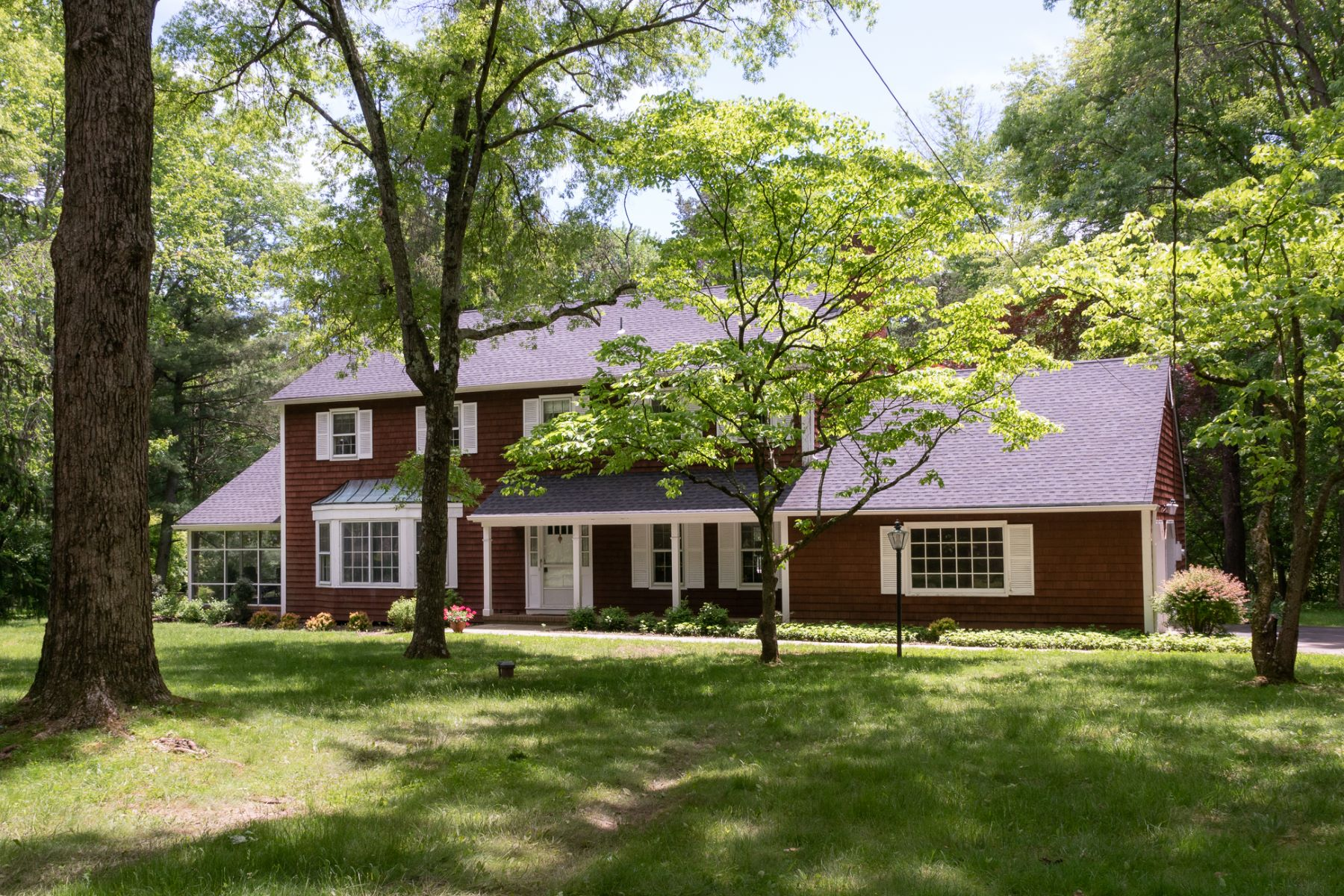 single family homes for Sale at Sprawling Old Elm Ridge Gem Waiting for New Owner 11 Honey Lake Drive, Princeton, New Jersey 08540 United States