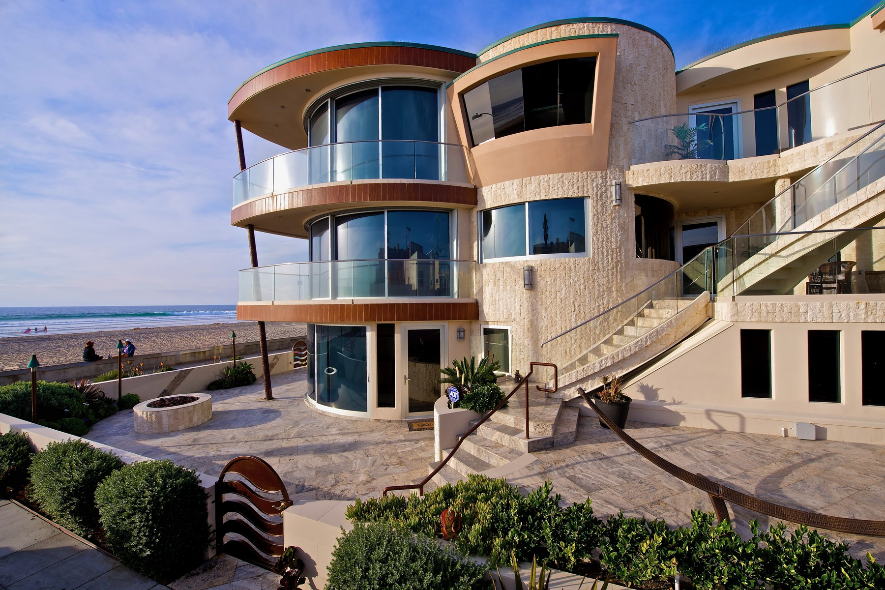 Single Family Home for Sale at Architectural Masterpiece- Mission Beach 3675 Ocean Front Walk, San Diego, California, 92109 United States