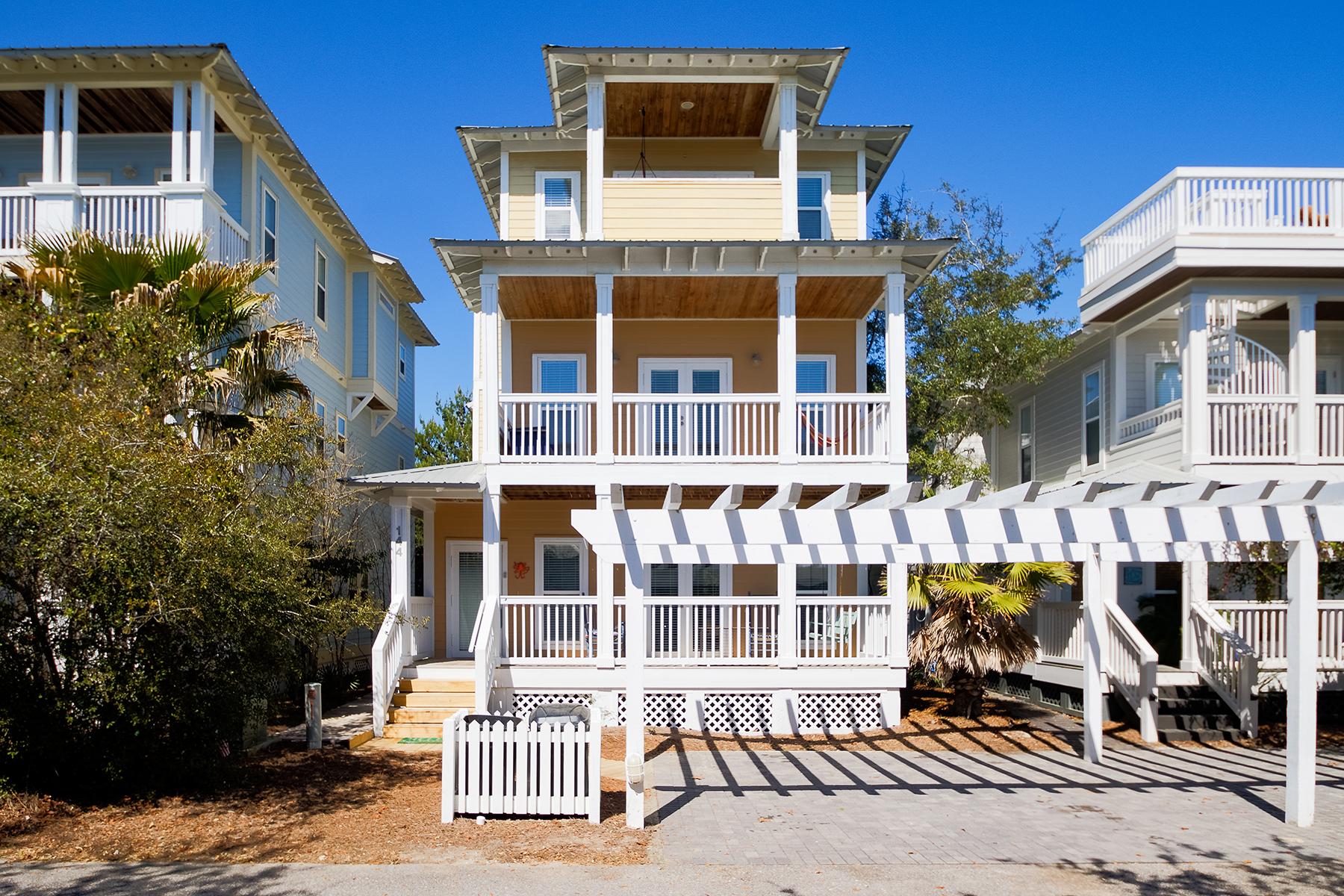 Частный односемейный дом для того Продажа на Newly Updated Cottage with Gulf Views 144 Cottage Way, Inlet Beach, Флорида, 32461 Соединенные Штаты