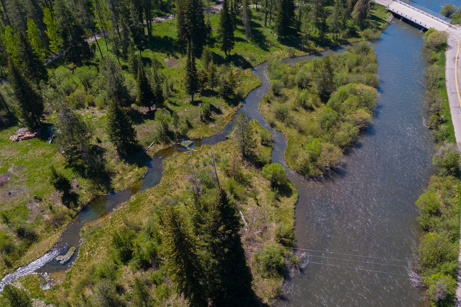 Land for Sale at 4 Acres on a 560' Stretch of Fish Creek 5075 W Rainbow Trout Wilson, Wyoming 83014 United States