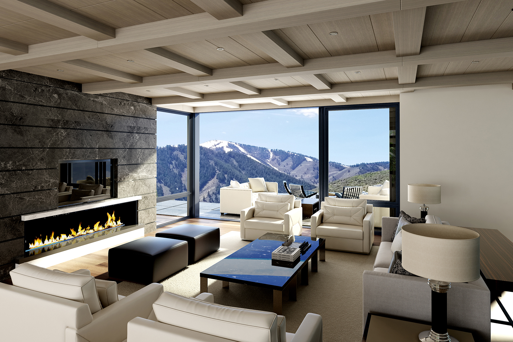 Single Family Homes pour l Vente à New Contemporary Home 1 Pete's Lane Sun Valley, Idaho 83353 États-Unis