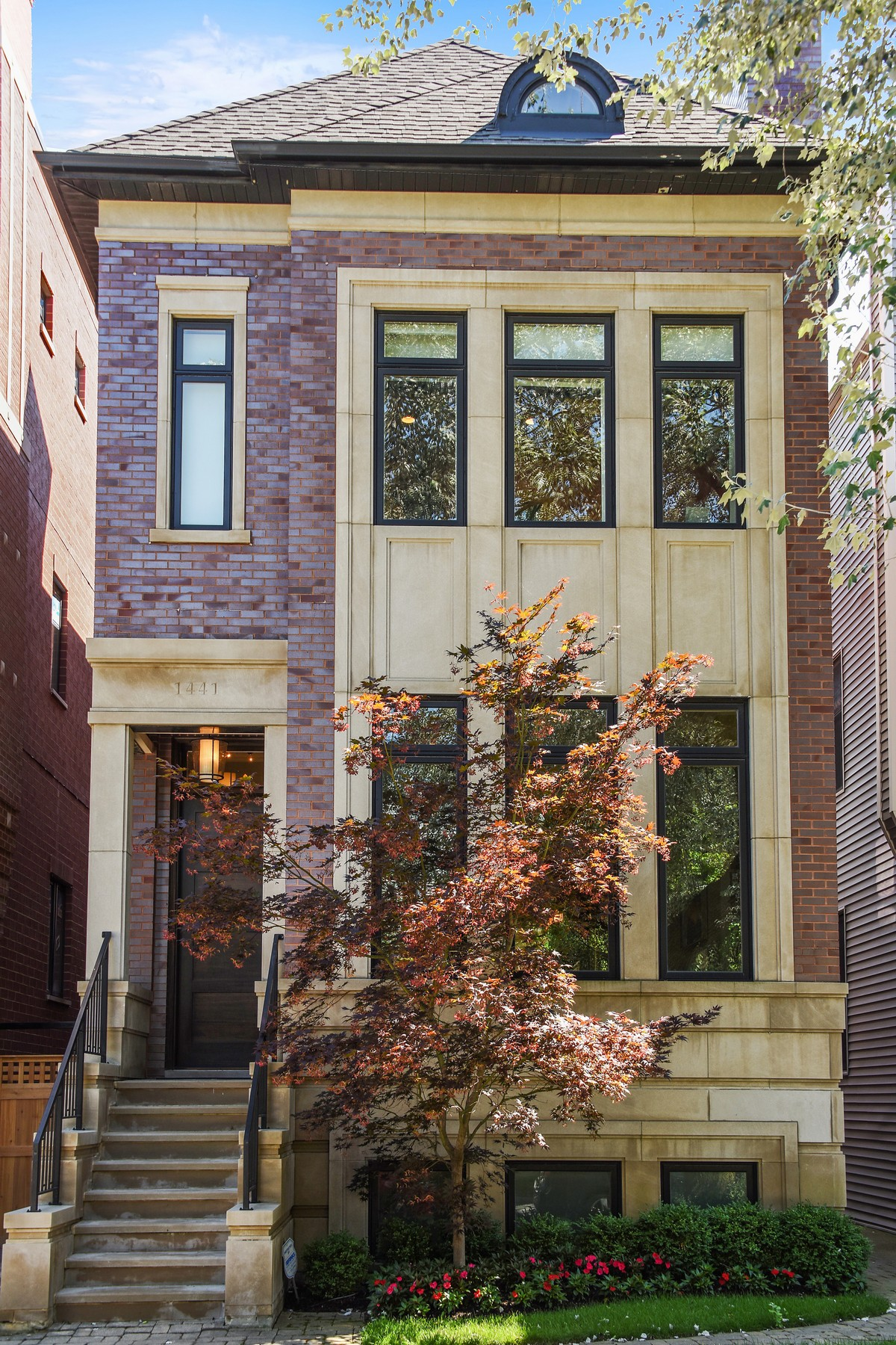 Single Family Home for Sale at Stunning Custom-Built Contemporary Home 1441 W Melrose Street Chicago, Illinois, 60657 United States