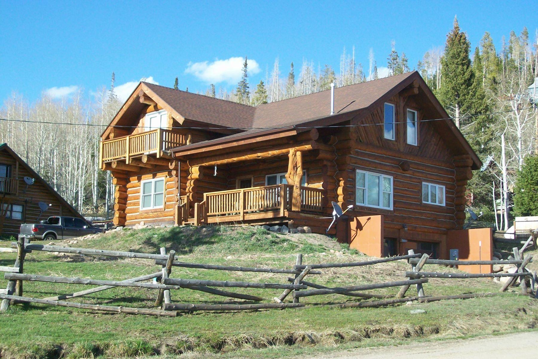 Single Family Homes για την Πώληση στο Log Home with Lake Views 25615 Second Ave, Clark, Κολοραντο 80428 Ηνωμένες Πολιτείες