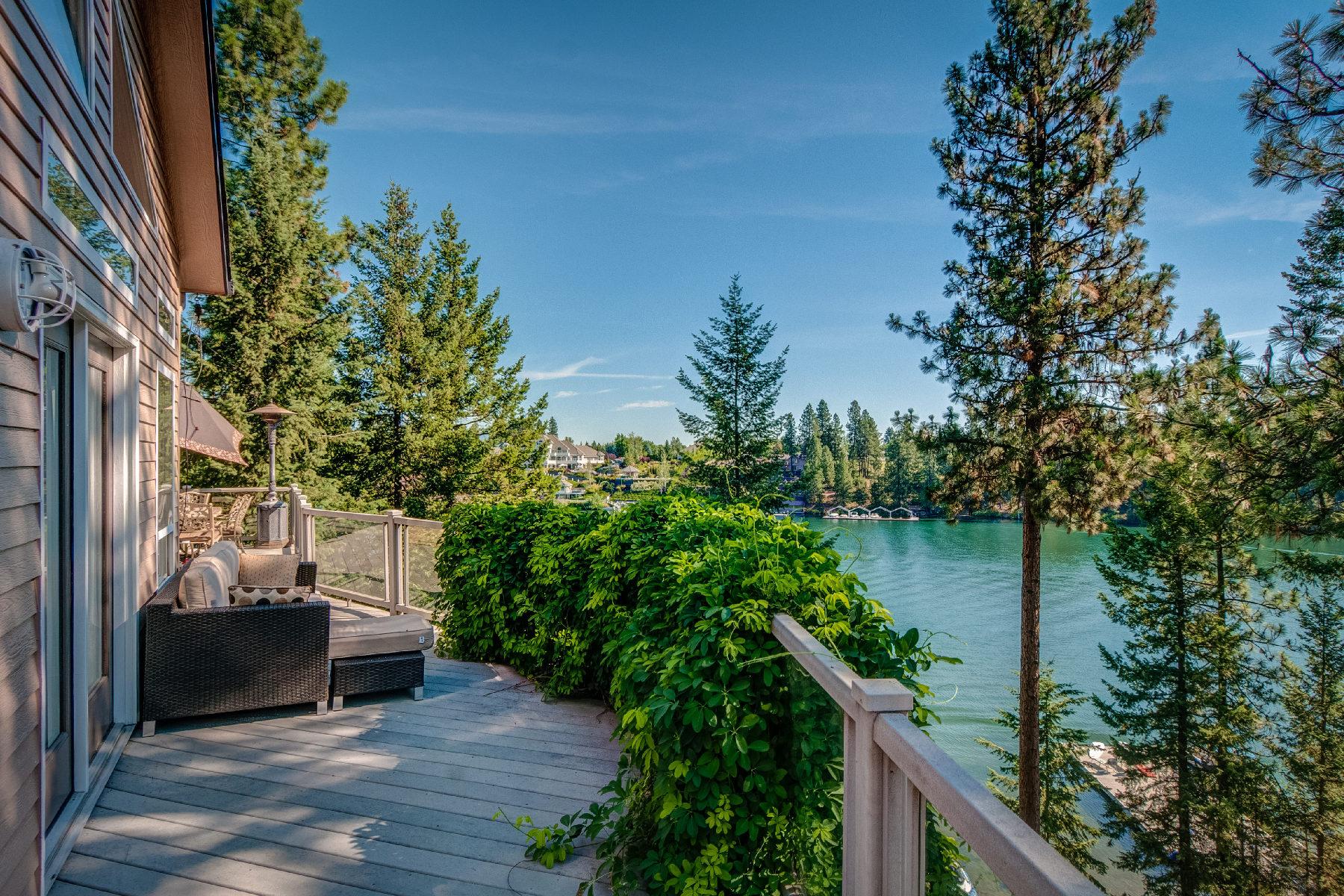 獨棟家庭住宅 為 出售 在 ENTERTAINER'S DELIGHT ON THE BEAUTIFUL SPOKANE RIVER! 10439 W Shale Ct Post Falls, 愛達荷州, 83854 美國