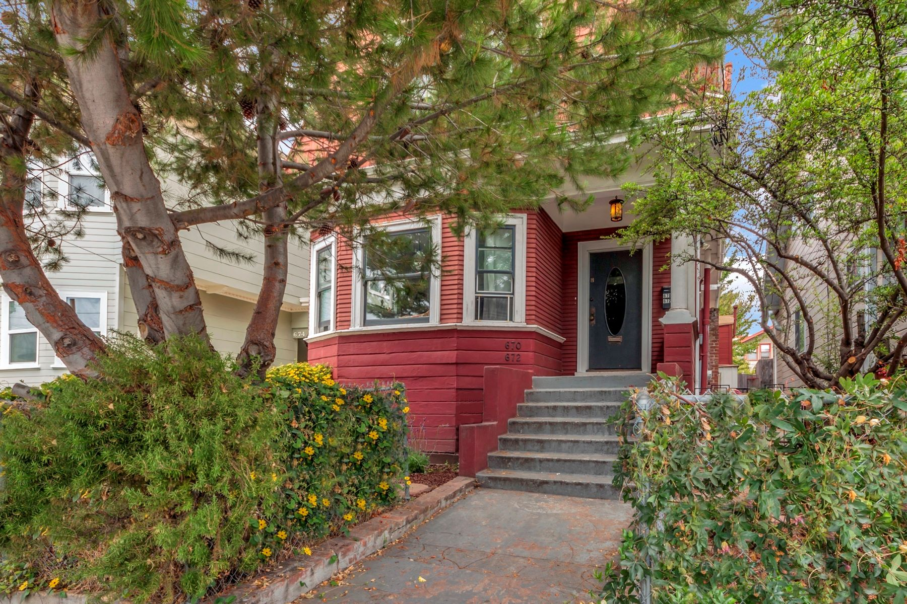 Duplex for Sale at Duplex With Detached Metro Cottage 670 Apgar Street Oakland, California 94609 United States