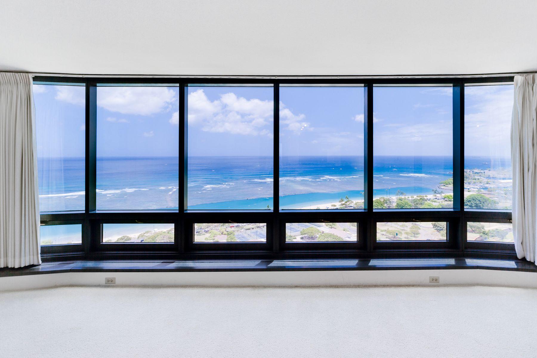 Кондоминиум для того Продажа на Ocean Views in Nauru Tower 1330 Ala Moana Boulevard #2803 Kakaako, Honolulu, Гавайи, 96814 Соединенные Штаты