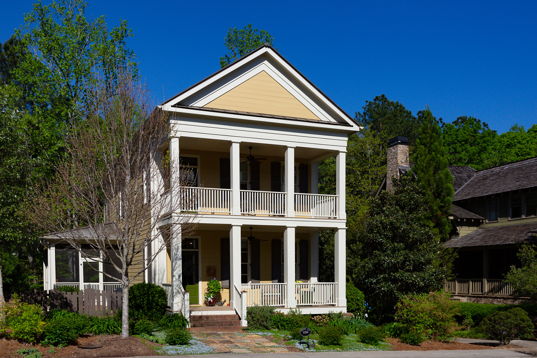 Single Family Homes for Sale at Charleston-Style Home In Award-Winning Serenbe Community 10564 Serenbe Lane Chattahoochee Hills, Georgia 30268 United States