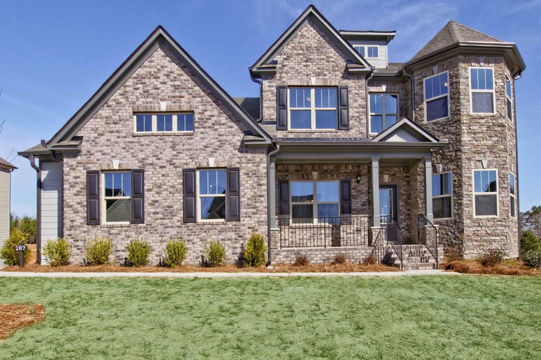 Частный односемейный дом для того Продажа на 100% Energy Star Certified New Construction 207 Wilde Oak Court Canton, Джорджия, 30115 Соединенные Штаты
