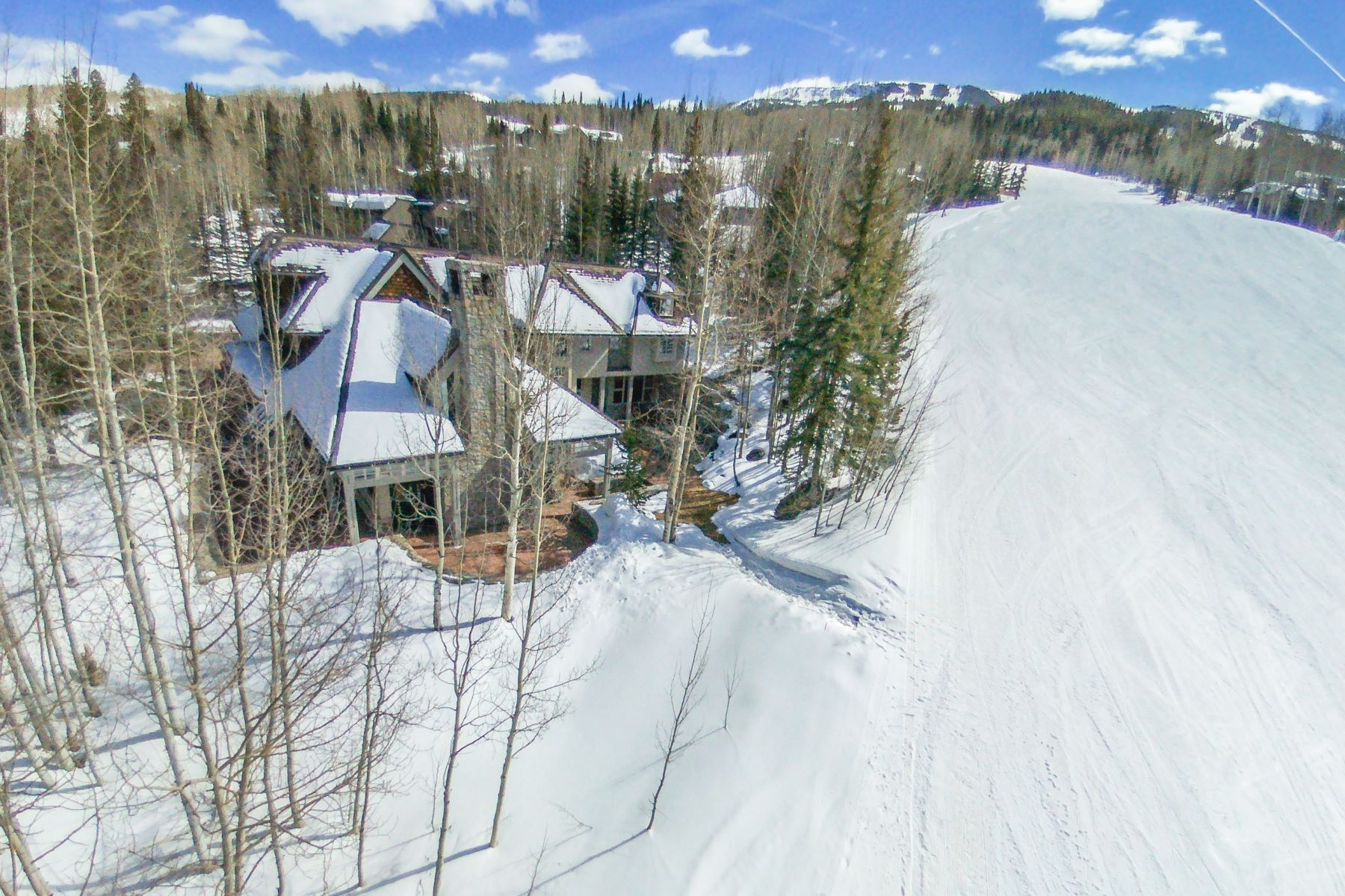 Single Family Home for Sale at Beautiful Stone and Stucco Residence 1061 Wood Road, Snowmass Village, Colorado, 81615 United States
