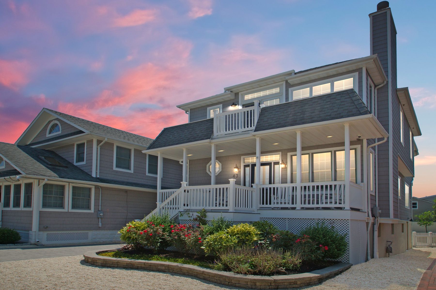 Single Family Homes for Sale at Custom Built Oceanblock Home 43 3rd Avenue Normandy Beach, New Jersey 08739 United States