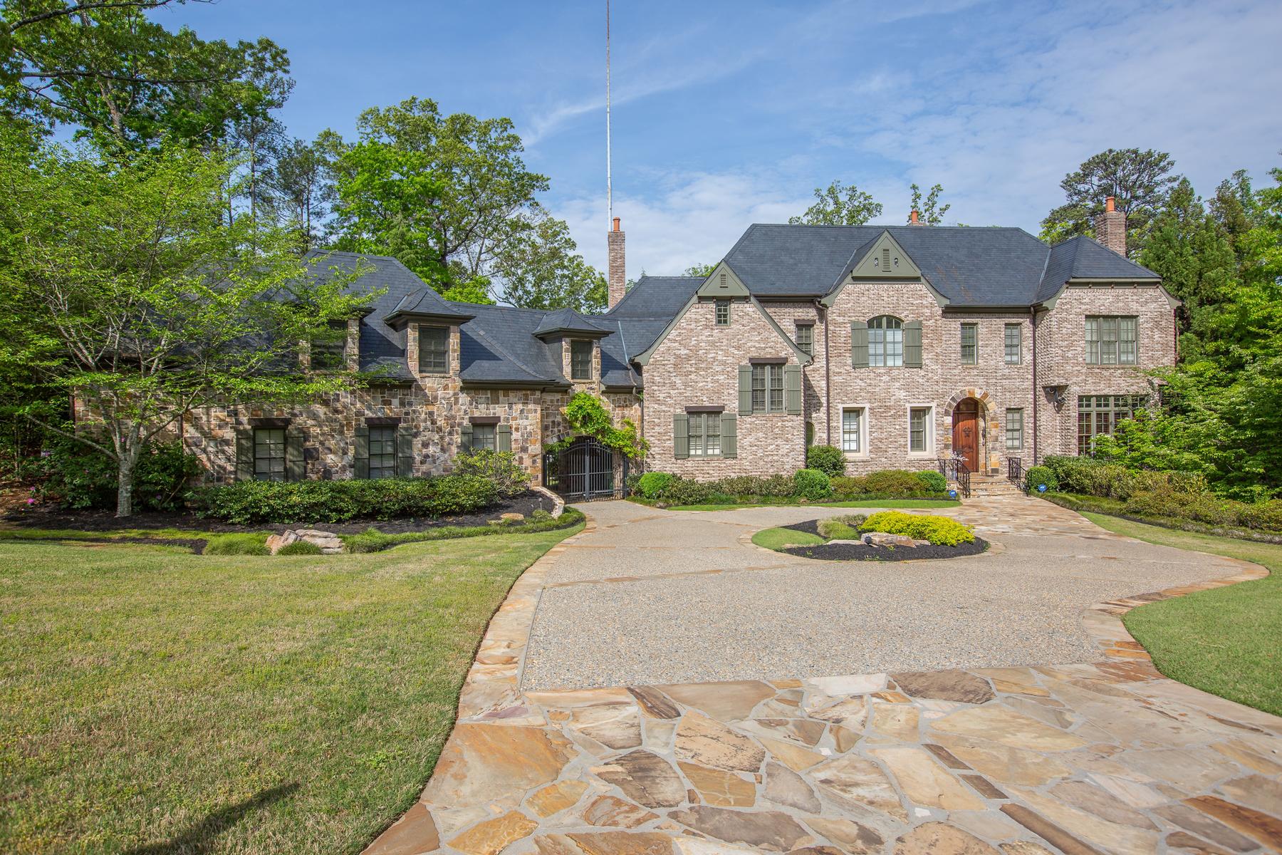 獨棟家庭住宅 為 出售 在 Gated Brick And Stone Home 4240 Irma Court Buckhead, Atlanta, 喬治亞州, 30327 美國