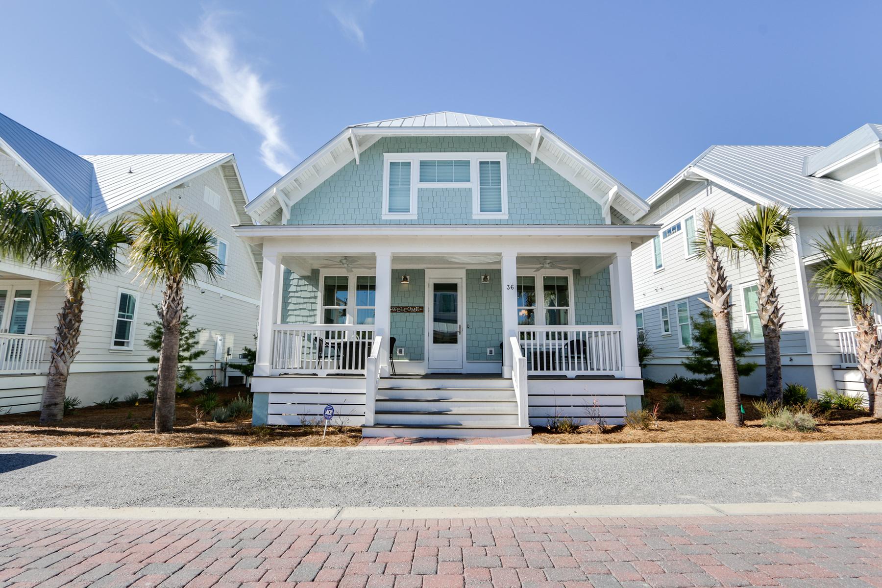 Частный односемейный дом для того Продажа на Charming New Construction Home in Quiet Beach Community 36 Federal Street, Inlet Beach, Флорида, 32461 Соединенные Штаты