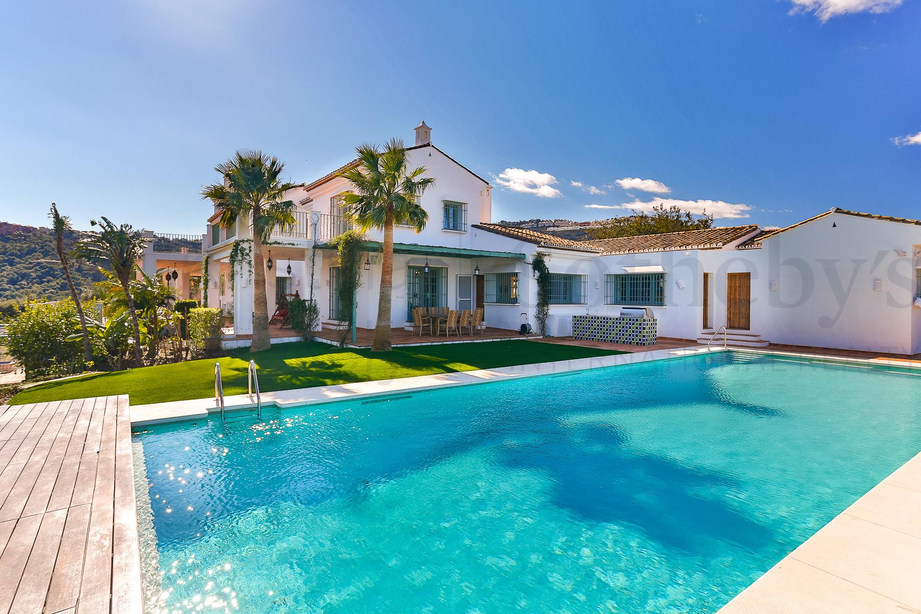 Hacienda and Estancia Homes for Sale at Delightful Estate with Panoramic Sea Views near Marbella Marbella, Andalucia Spain
