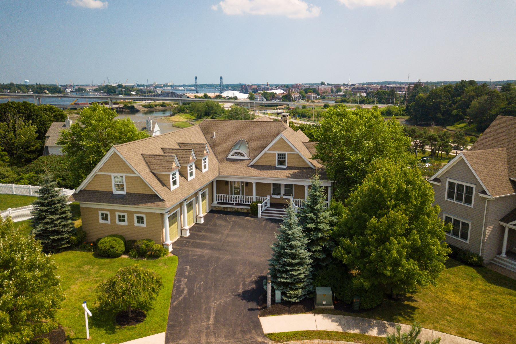 Single Family Home for Sale at Harbor view and Portsmouth city skyline 29 Brigham Lane Portsmouth, New Hampshire 03801 United States