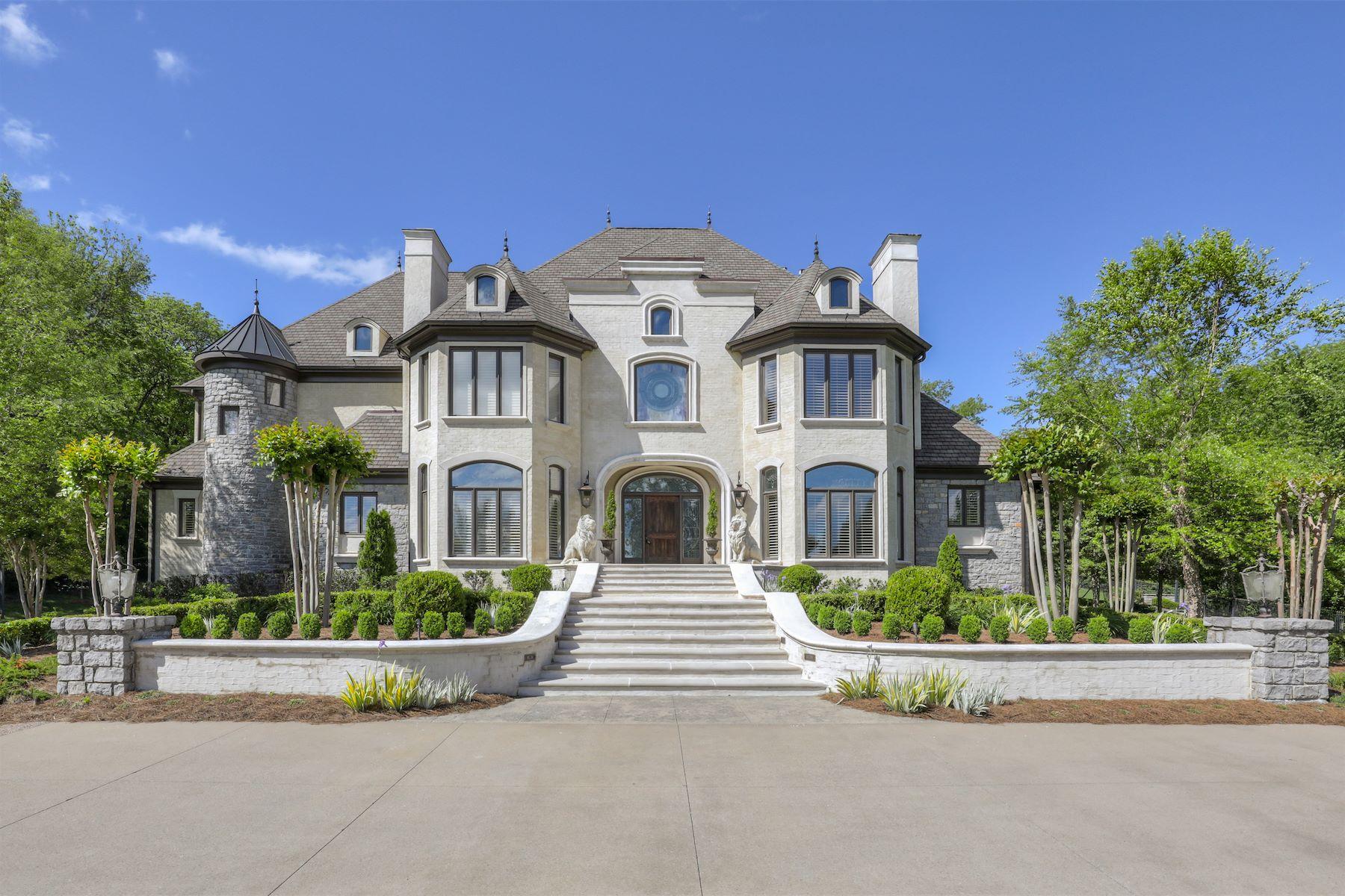 Vivienda unifamiliar por un Venta en Breathtaking Forest Hills Estate 1224 Otter Creek Road Nashville, Tennessee 37215 Estados Unidos