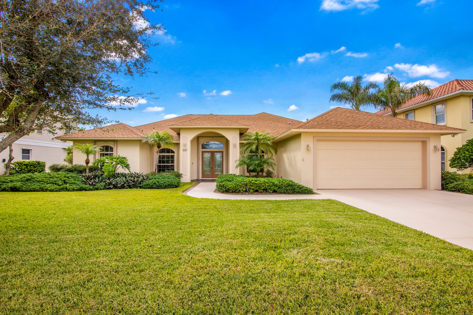 Single Family Homes for Sale at Open and Bright Home in Perfect Location 161 Seaglass Drive Melbourne Beach, Florida 32951 United States
