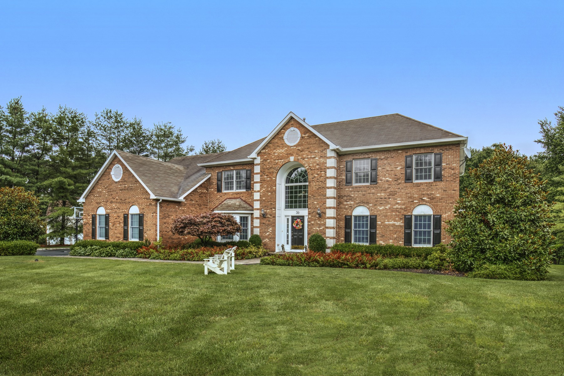 Single Family Homes for Sale at Gracious Colonial 30 Saint Nickolas Way Basking Ridge, New Jersey 07920 United States